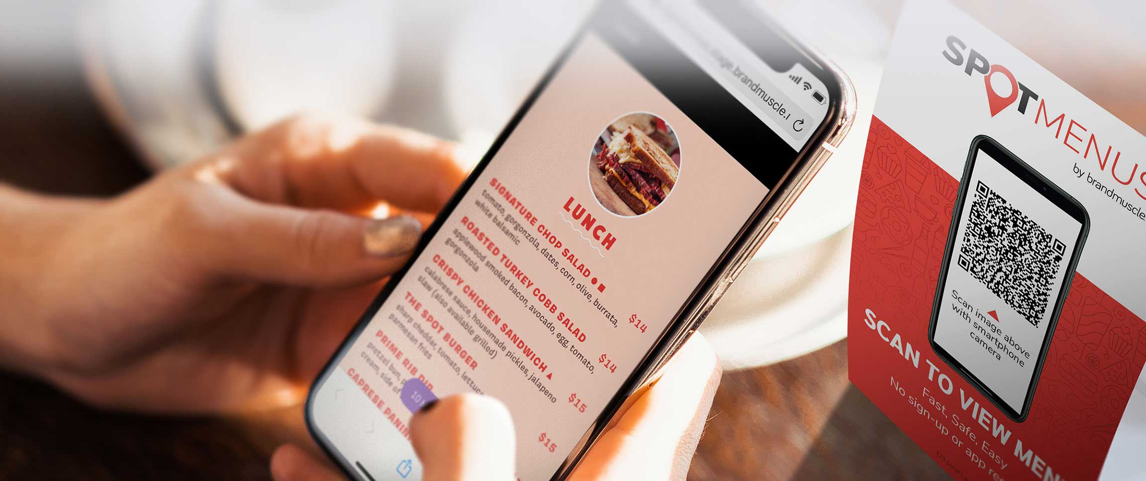 SpotMenus by BrandMuscle