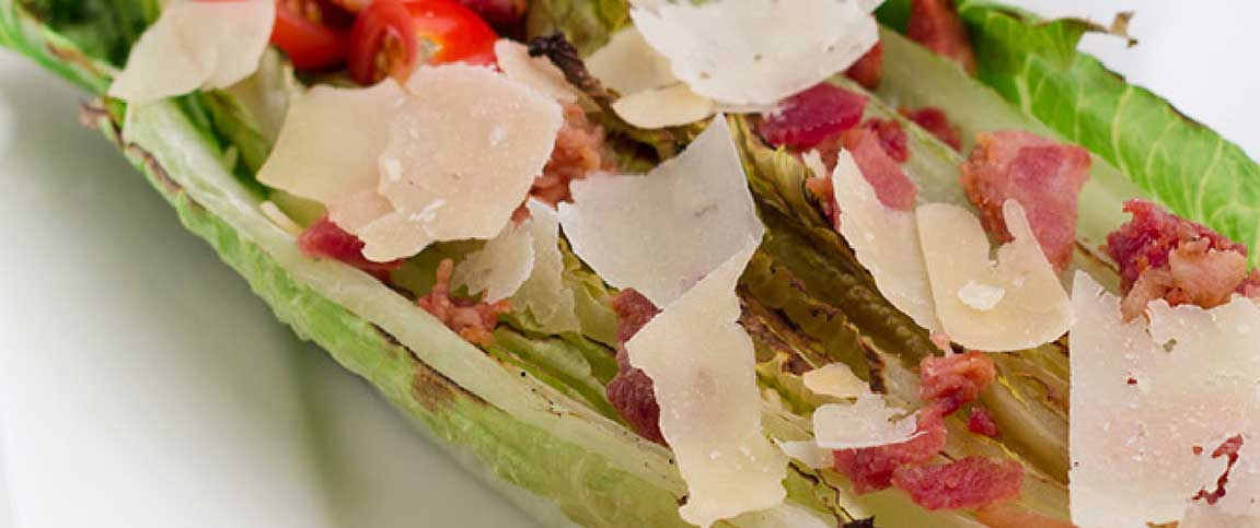 Grilled Romaine Leaf Caesar Salad