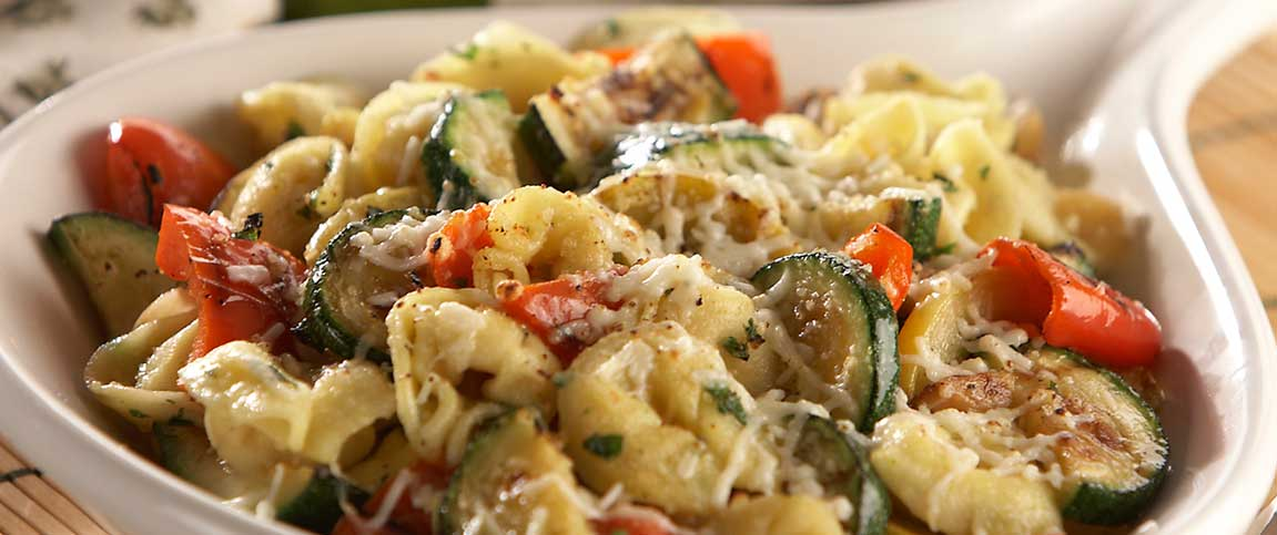 Sauteed Tortellini with Grilled Vegetables