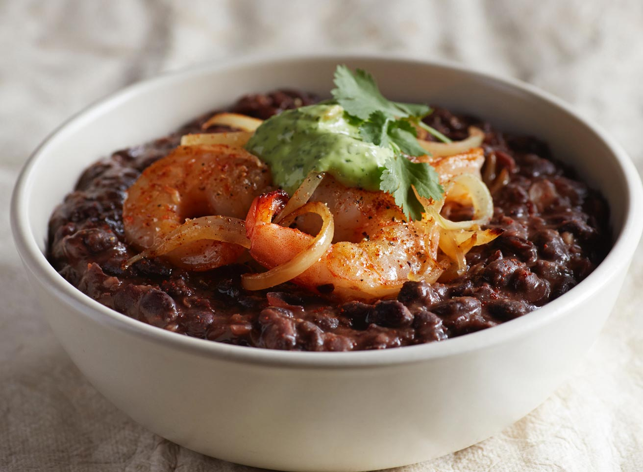 Baja Shrimp and Black Bean Bowl