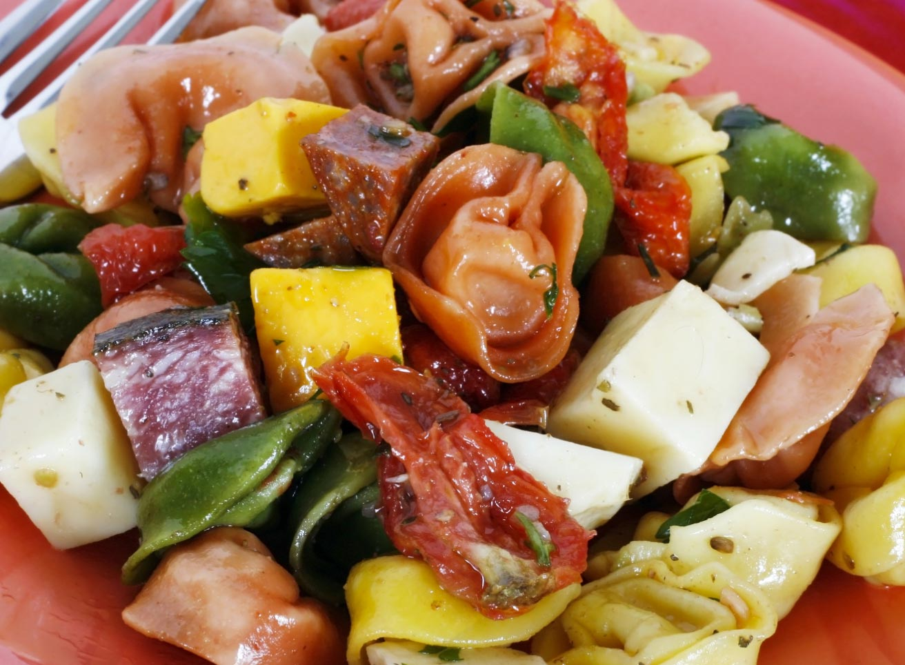 Tri-Color Tortellini Antipasta Salad