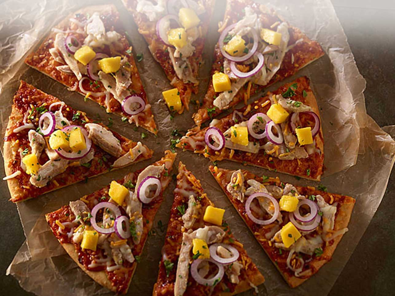 Tropical BBQ Chicken Pizza